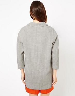 Image 2 ofASOS Piped Cocoon Coat