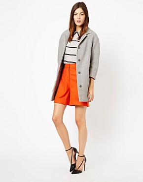 Image 4 ofASOS Piped Cocoon Coat