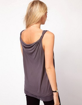 Image 2 ofOasis Studded Chiffon Front Vest