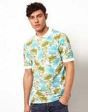 Beck &amp; Hersey Polo with Tropical Girl Print