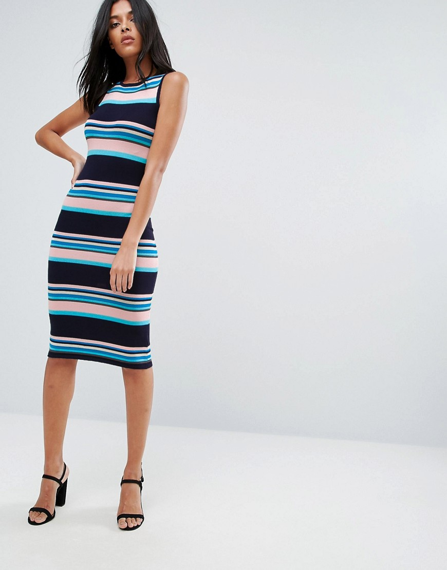 A State Of Being Stripe Midi Dress