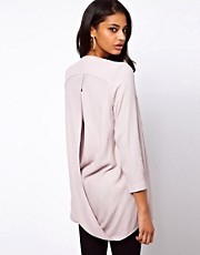 ASOS Blazer with Drape Cross Back