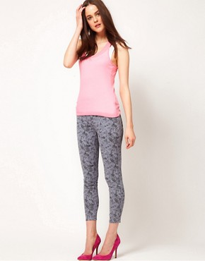 Image 1 of J Brand Mid Rise Ankle Jean in Mini Floral Print