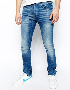 River Island Sid Skinny Jeans in Stretch Denim