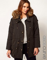 ASOS CURVE Oversized Hooded Parka