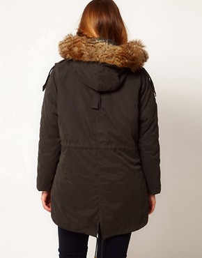 Image 2 ofASOS CURVE Oversized Hooded Parka