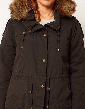 Image 3 ofASOS CURVE Oversized Hooded Parka