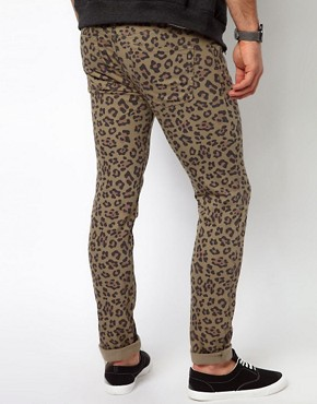 Image 2 of ASOS Skinny Jeans With Animal Camo Print