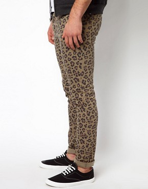 Image 4 of ASOS Skinny Jeans With Animal Camo Print