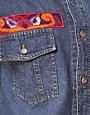 Image 3 ofJervoise Eye Swirl Pocket Sleeveless Denim Shirt