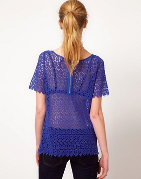 Image 2 ofKookai Floral lace Top