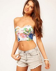 Motel Pretty Rose Crop Bralet