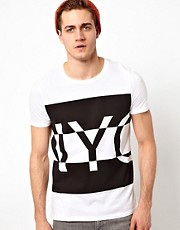 ASOS - T-shirt con stampa NYC oversize