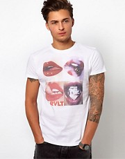 Revolution T-Shirt With Lips Print