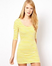 Aime by People Tree Organic Cotton Stripe Bodycon Dress
