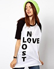 ASOS Oversized T-Shirt with No Love Lost Print