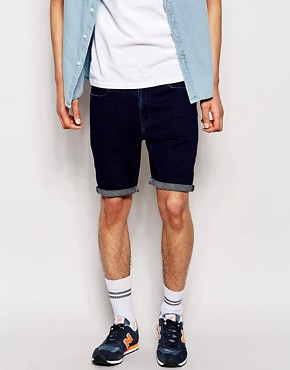 ASOS Denim Shorts In Super Skinny Fit Jersey