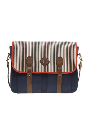 Image 1 ofASOS Stripe Contrast Satchel