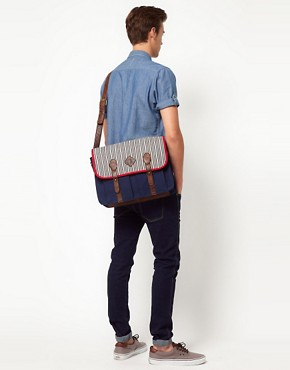 Image 3 ofASOS Stripe Contrast Satchel
