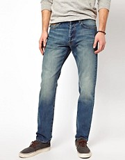 Denim Demon Jeans Ravve Regular Tapered Mid Wash Stitch Detail