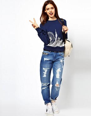 Image 4 ofASOS Sweatshirt with London Scene