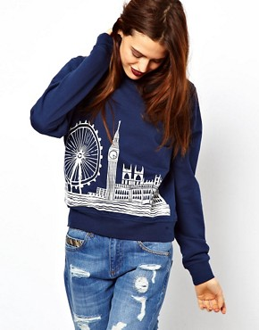 Image 1 ofASOS Sweatshirt with London Scene