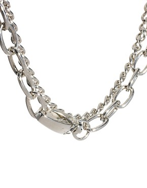 Image 3 ofASOS Double Row Chain Choker Necklaces