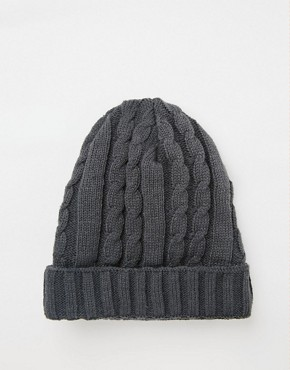 7X Cable Banie Hat In Grey