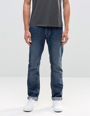 Blend Twister Slim Fit Jeans in Crinkle Denim