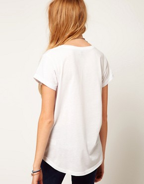 Image 2 of ASOS T-Shirt with Ying Yang Print