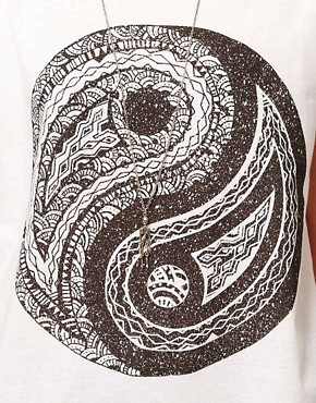 Image 3 of ASOS T-Shirt with Ying Yang Print