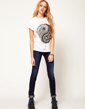 Image 4 of ASOS T-Shirt with Ying Yang Print
