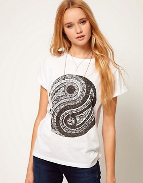 Image 1 ofASOS T-Shirt with Ying Yang Print