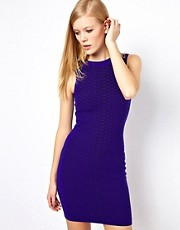Karen Millen Bodycon Dress with Textured Snake Print Stitch