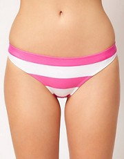 ASOS  Mix and Match  Gestreifte Bikinihose im brasilianischen Stil