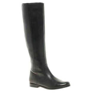 Image 1 ofASOS CHIEF Leather Knee High Boots