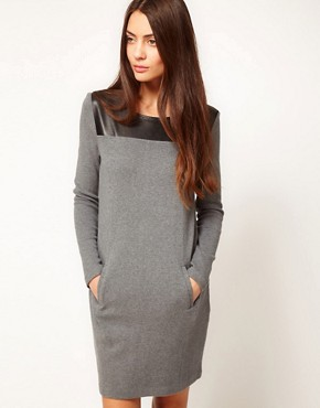 Image 1 of Whistles Hallie Contrast Yoke Dress