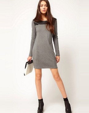 Image 4 of Whistles Hallie Contrast Yoke Dress