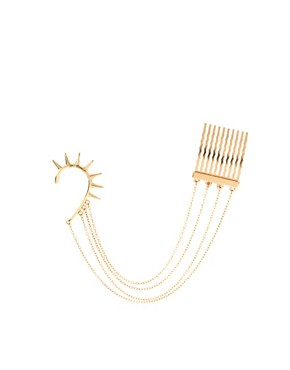 Image 2 ofASOS Spike Ear Cuff And Comb