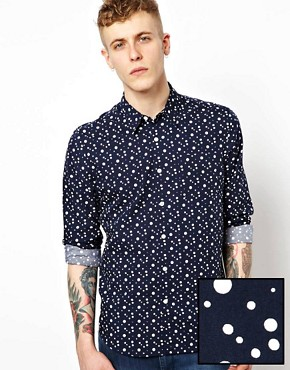 Image 1 ofASOS Shirt With Spot Print
