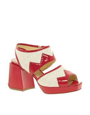 Image 1 ofPollini Block Heeled Sandals