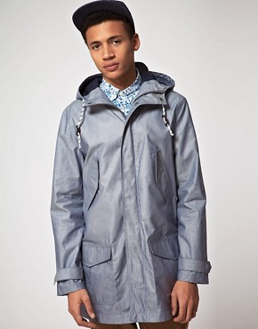 Image 1 ofASOS Parka In Coated Cotton