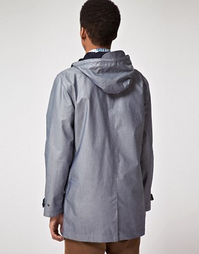 Image 2 ofASOS Parka In Coated Cotton
