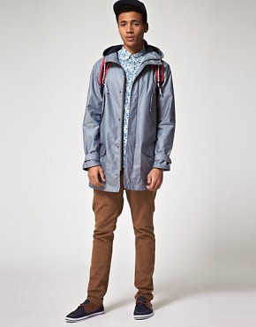 Image 4 ofASOS Parka In Coated Cotton