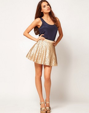 Image 1 ofTFNC Sequin Prom Skater Skirt
