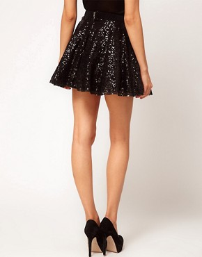 Image 2 ofTFNC Sequin Prom Skater Skirt