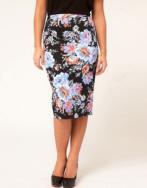 Image 4 ofASOS CURVE Pencil Skirt In Floral Print