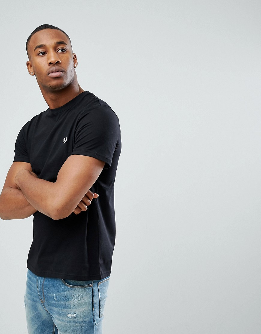 Fred Perry T-Shirt With Crew Neck In Black - Black