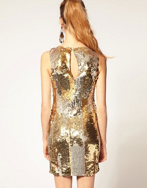 Image 2 ofASOS Sequin Dress with Knot Twist