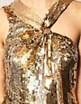 Image 3 ofASOS Sequin Dress with Knot Twist